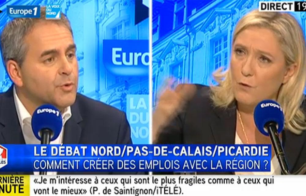 Xavier Bertrand prend la défense du lycée islamiste de Lille face à Marine Le Pen