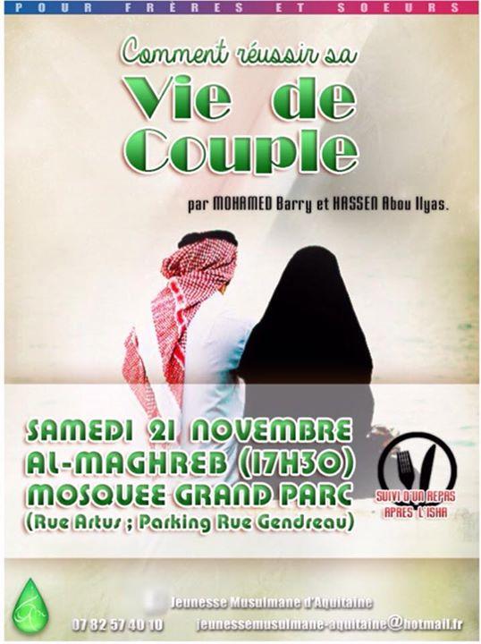 Le modèle de vie de couple idéal selon la mosquée al-Maghreb.