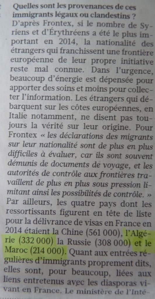 Extrait d'une interview de la démographe Michèle Tribalat de l'Institut National d'Etudes Démographiques dans Le Figaro (juillet 2015).
