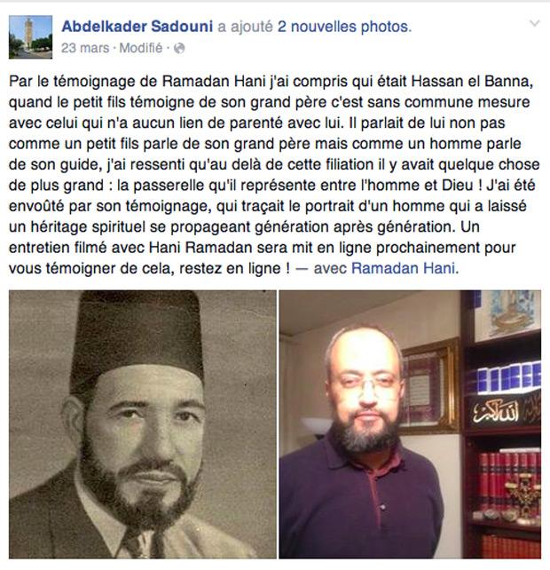L'imâm de Nice Abdelkader Sadouni a bien des liens nets avec les islamistes, dont les Frères Musulmans