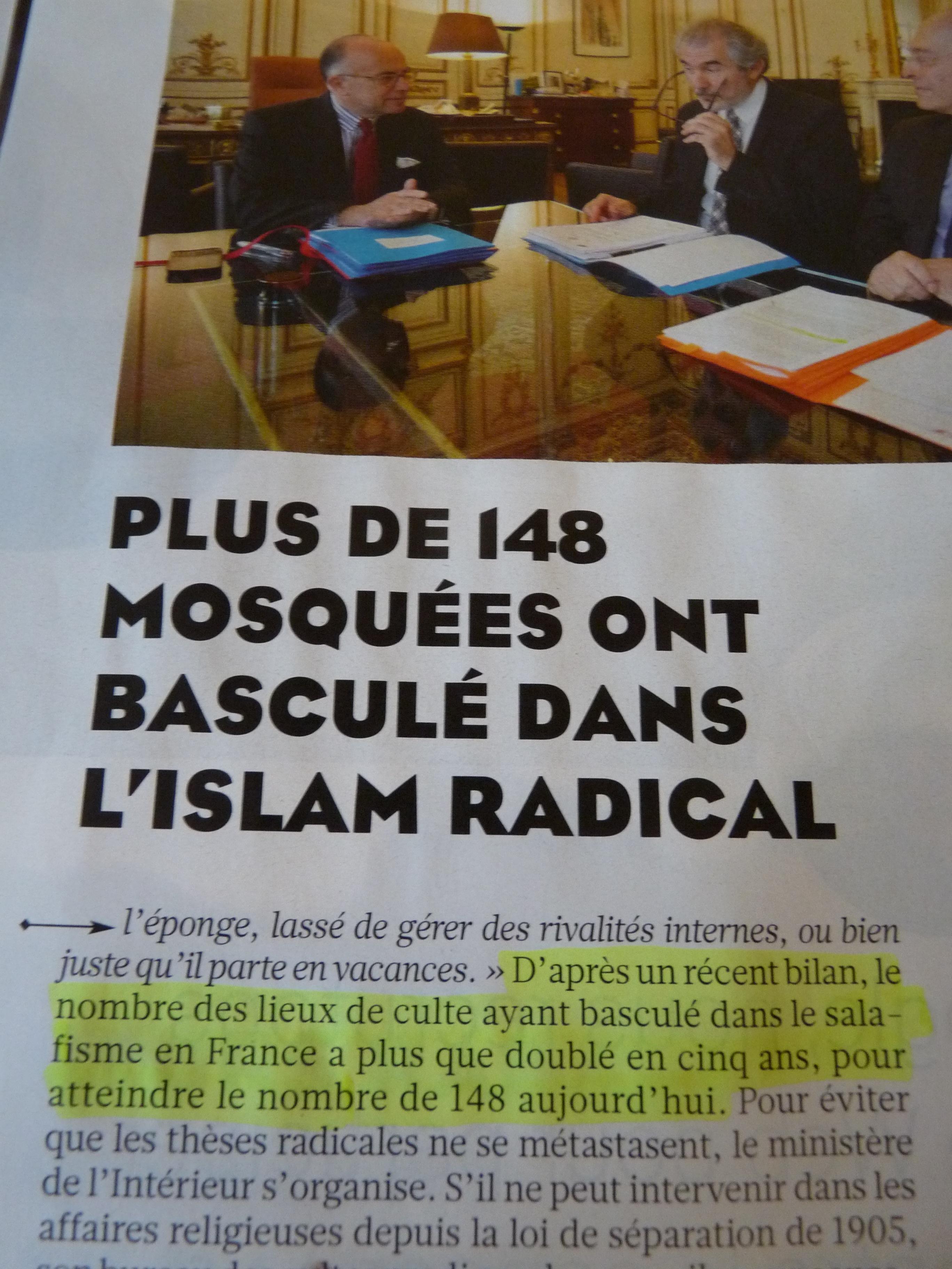 148 moquées radicales en 2015