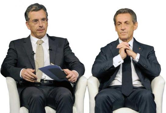 Dominique Reynié en campagne pour les Régionale avec Nicolas Sarkozy