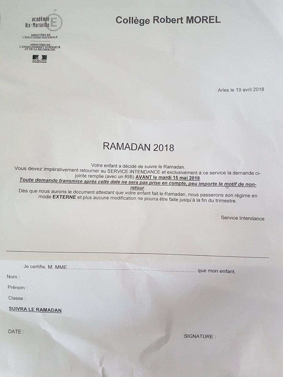 Un collège de l'Académie de Marseille recense les élèves faisant ramadan pour l'intendance 6a00d83451619c69e20224df306e95200b