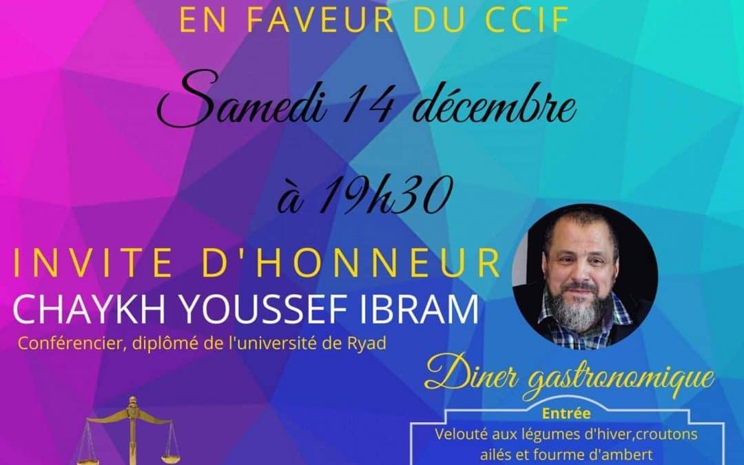 Le CCIF de Gironde a invité le prédicateur pro lapidation Youssef Ibram en décembre 2019