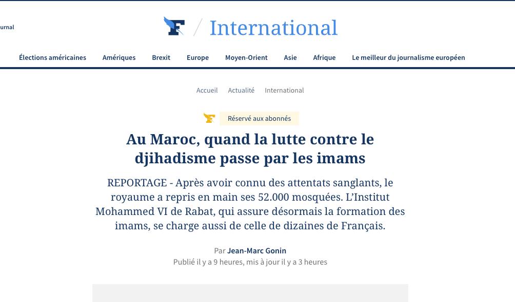 Le Figaro Magazine enfume son lectorat sur l'islam au Maroc,  prétendument inoffensif